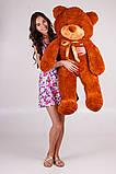 Плюшевий ведмедик Тедді коричневий 120 см, фото 3