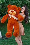 Плюшевий ведмедик Тедді коричневий 120 см, фото 4