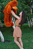 Плюшевий ведмедик Тедді коричневий 120 см, фото 5
