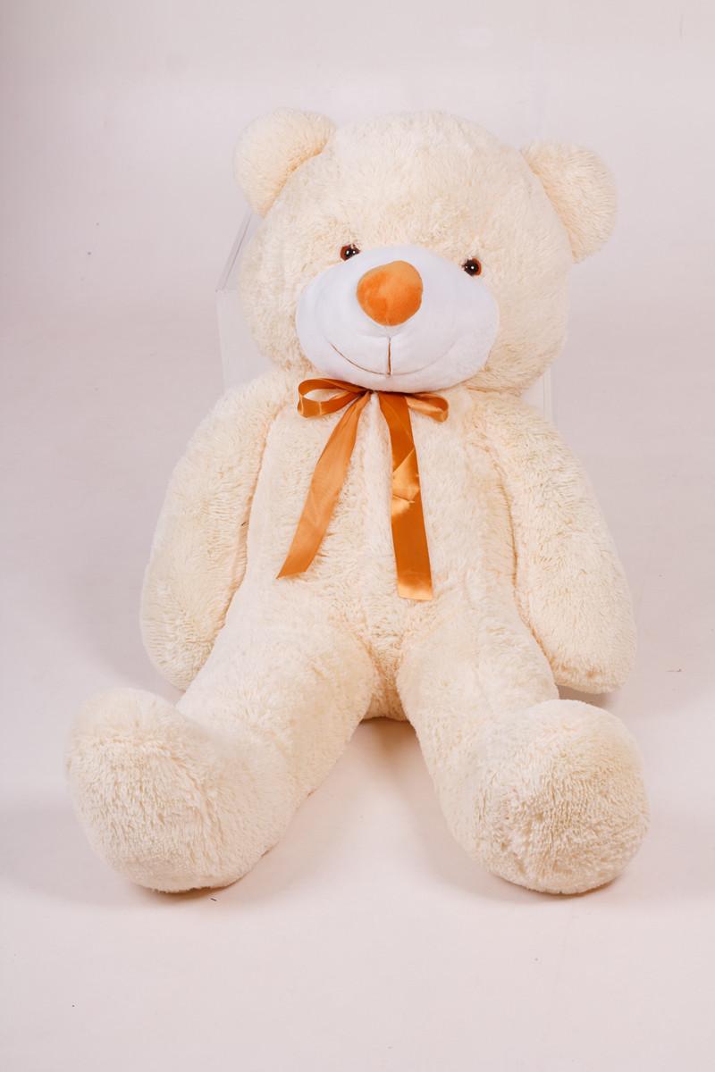 Плюшевий ведмедик Тедді кремовий 120 см