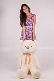 Плюшевий ведмедик Тедді кремовий 120 см, фото 3