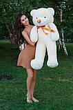 Плюшевий ведмедик Тедді кремовий 120 см, фото 4