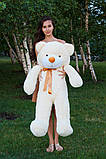 Плюшевий ведмедик Тедді кремовий 120 см, фото 5