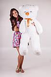 Плюшевий ведмедик Тедді білий 140 см, фото 2