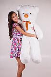 Плюшевий ведмедик Тедді білий 140 см, фото 3