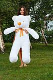 Плюшевий ведмедик Тедді білий 140 см, фото 4