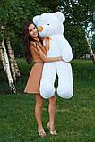 Плюшевий ведмедик Тедді білий 140 см, фото 5