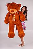 Плюшевий ведмедик Тедді коричневий 160 см, фото 2