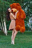 Плюшевий ведмедик Тедді коричневий 160 см, фото 3