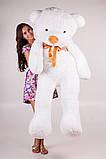 Плюшевый мишка Тедди белый 180 см, фото 2