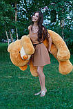 Плюшевый мишка Тедди карамель 180 см, фото 5