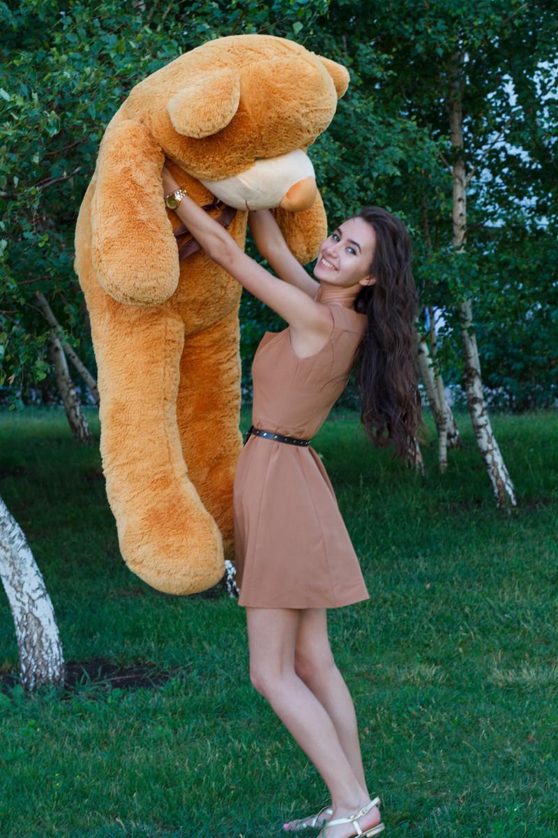 Плюшевий ведмедик Тедді карамель 180 см