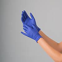 Перчатки нитриловые Polix PRO&MED, 100 штук в упаковке, размер XS (синий)