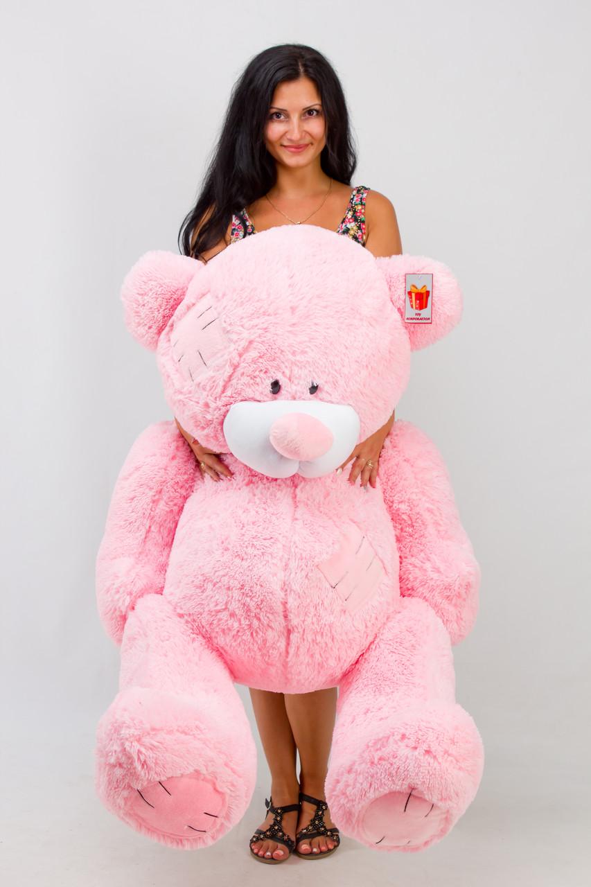 Рожевий плюшевий ведмедик півтора метра