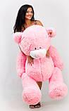 Рожевий плюшевий ведмедик півтора метра, фото 2