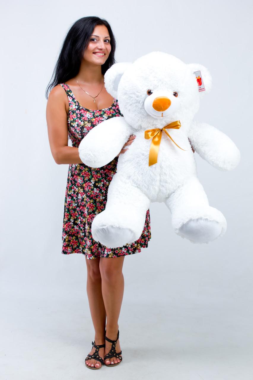 Білий недорогий ведмедик 100 см