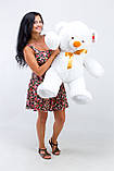 Білий недорогий ведмедик 100 см, фото 2