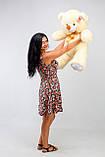 Плюшевий ведмедик кремовий 100 см, фото 2