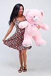Недорогой плюшевый мишка Розовый 100 см, фото 2