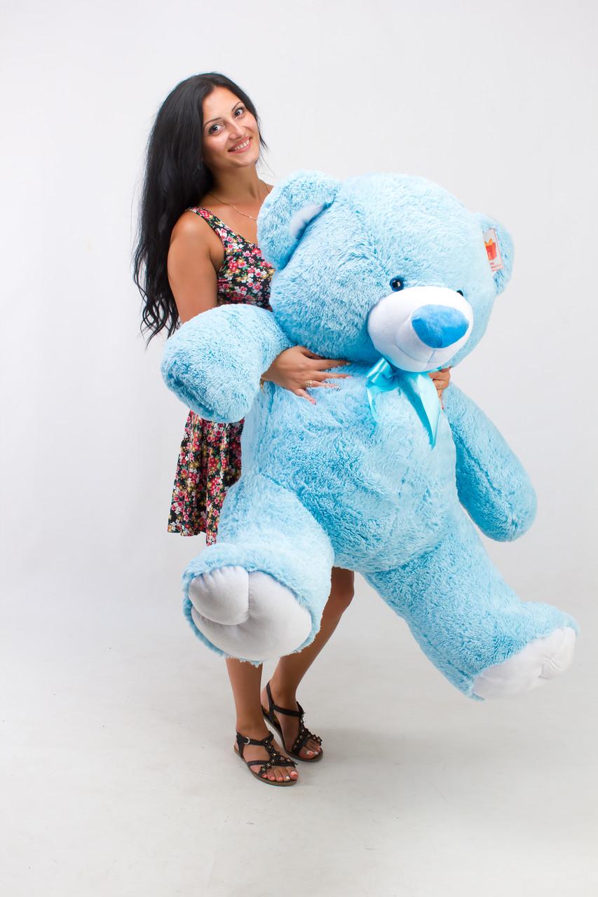 Плюшевий ведмедик блакитний 150 см