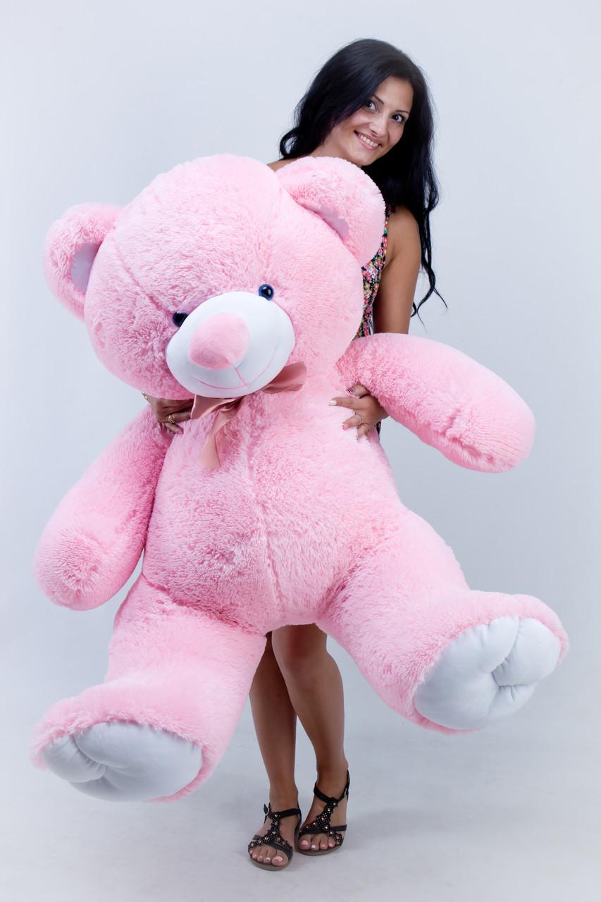Медведь полтора метра розовый