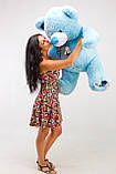 Блакитний плюшевий ведмедик 130 см, фото 3