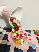 Сувенир (ручная работа) Чаша изобилия (Цветы)