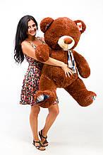 Шоколадний плюшевий ведмедик із шарфиком