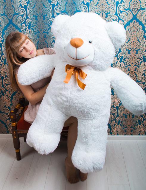 "Білий ведмедик ""Веня"" 130 см"