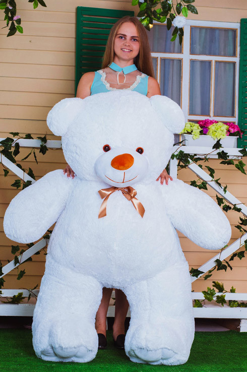 Білий ведмедик Веня 160 см