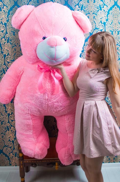 Мишко Веня 200 см рожевий