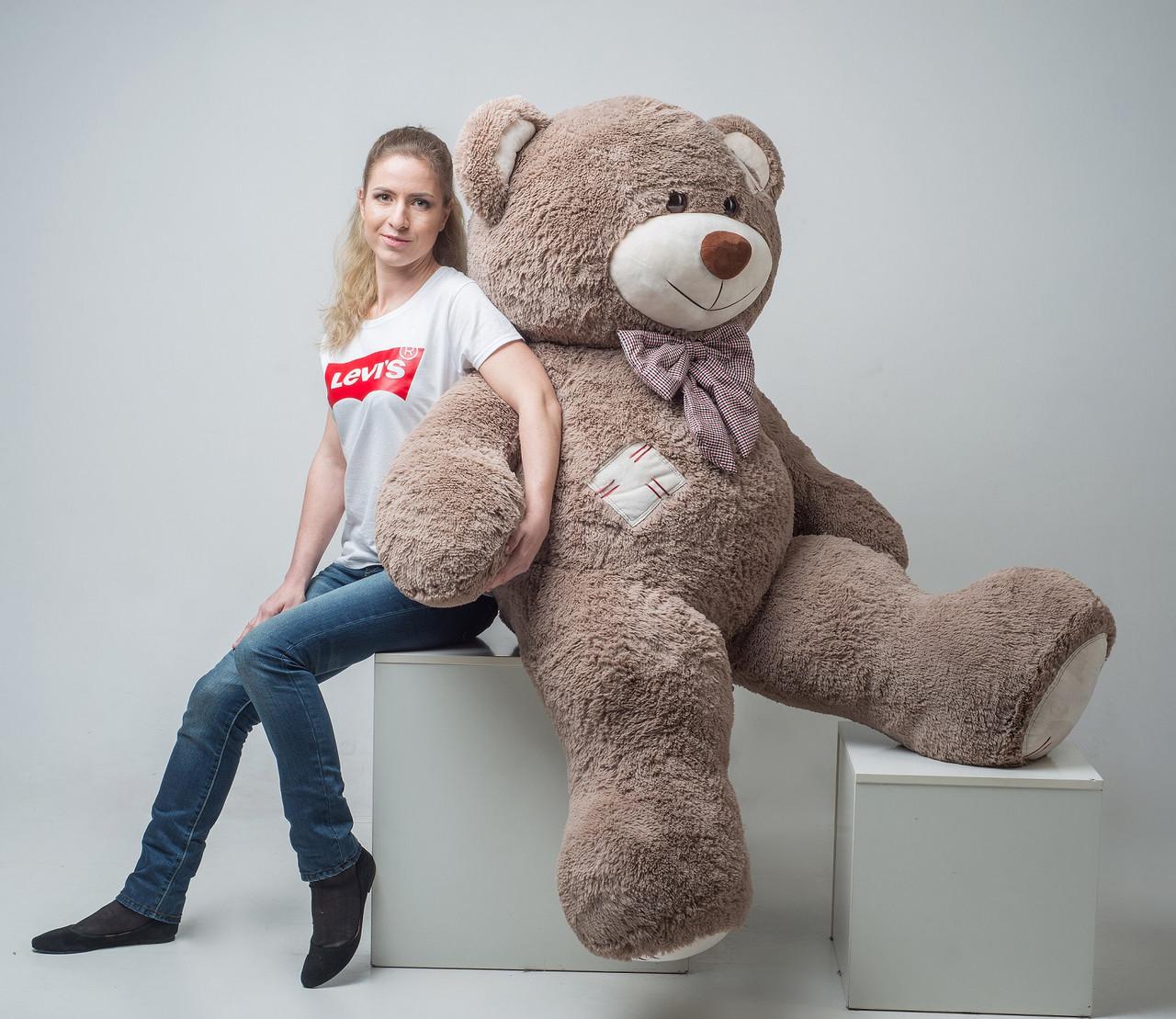 Плюшевый медведь 2 метра Капучино