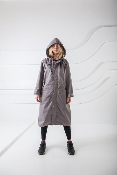 fd9a09fd294 Демисезонная куртка-плащ унисекс Hard Stone серый - купить по лучшей ...