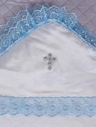 Пеленка крестильная(зима) ( бел./гол, велсофт(90*90))