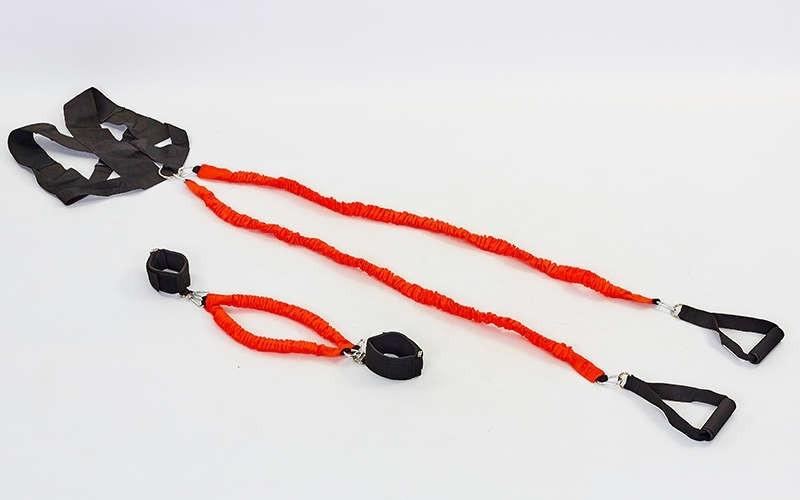 Поводок амортизатор с рукоятками для силовых тренировок PHYSICAL ABILITY TRAINER FI-6557