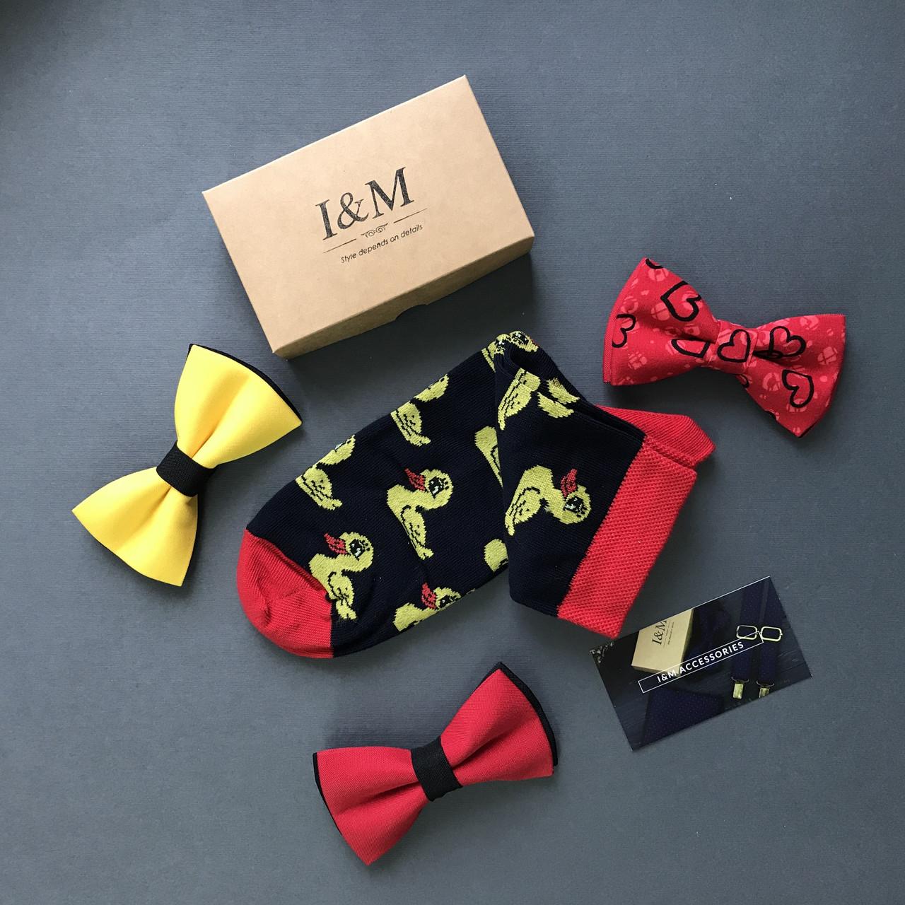 Носки I&M Craft Elegant's черного цвета с принтом (070155)