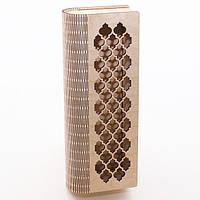 Шкатулка-пенал с гравировкой Сетка, фото 1