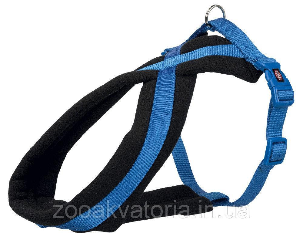 Шлея-петля L-XL 70-100 см Преміум Софт синя Trixie для собак