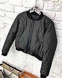 Женская куртка-бомбер из плащевки на молнии (3 цвета), фото 3