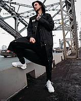 Демисезонная куртка-плащ унисекс Hard Stone черная, фото 1