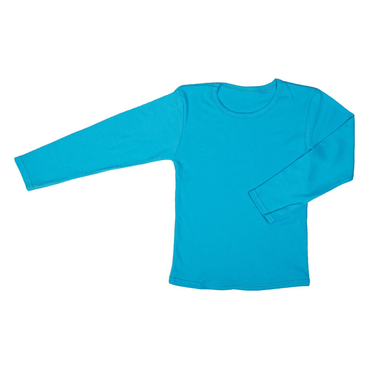 Футболка длинный рукав интерлок синяя