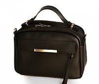 Лакшері жіноча сумочка-саквояж-портфель в 13-и кольорах. Чорний.