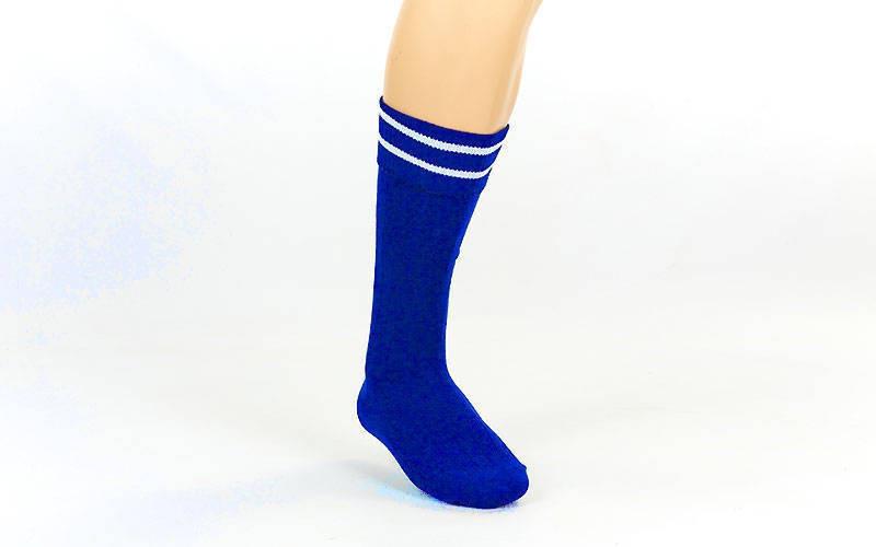Гетры футбольные юниор синие с белой полосой CO-5602-B
