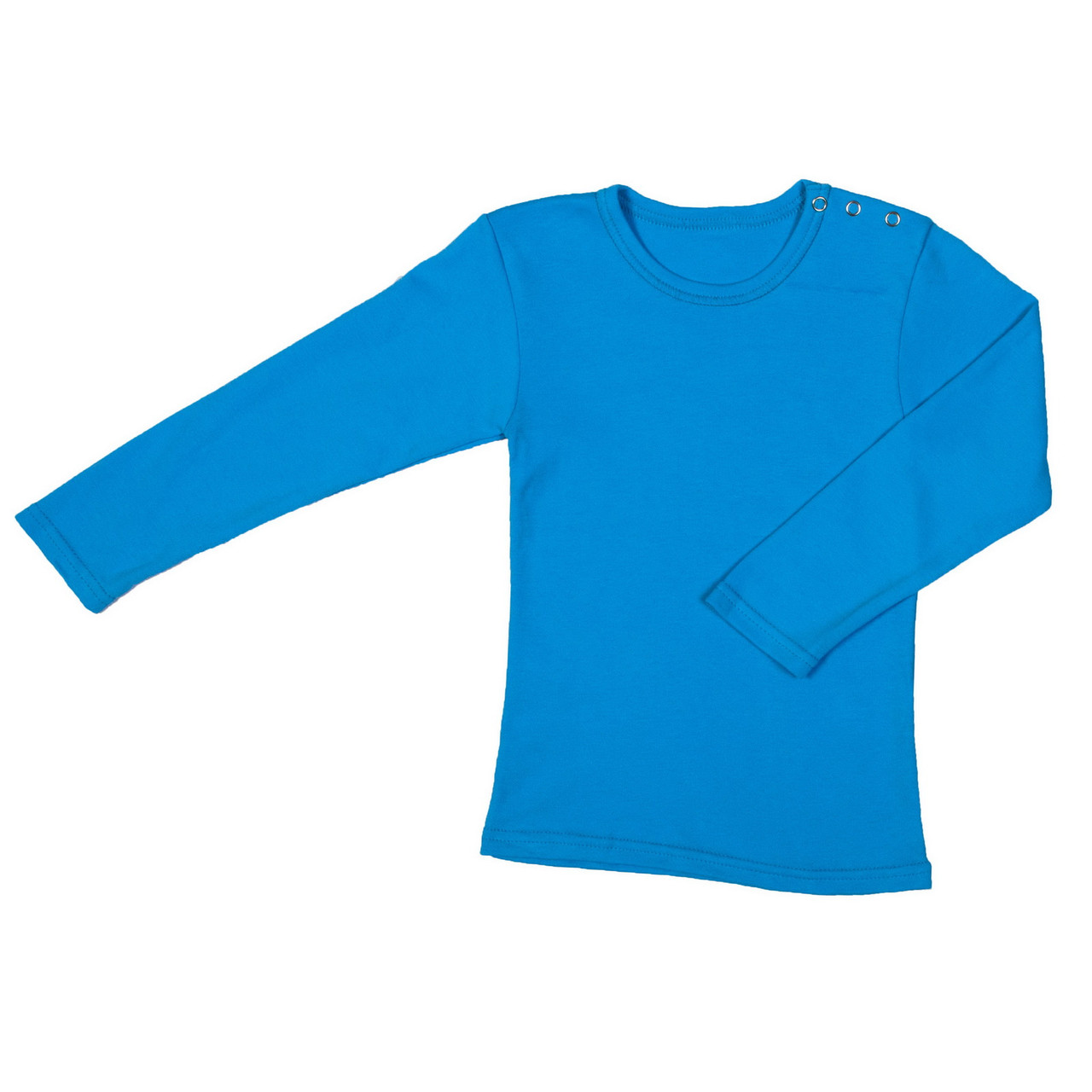 Футболка кнопка длинный рукав, реглан голубой