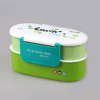Ланч бокс YooYee Color Lunch зелёный (LB-1628), фото 1