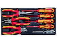 Набор инструментов 8 ед, в ложементе (Пасатижи, отвертки, кусачки, утконосы) King Tony 9-40618GP
