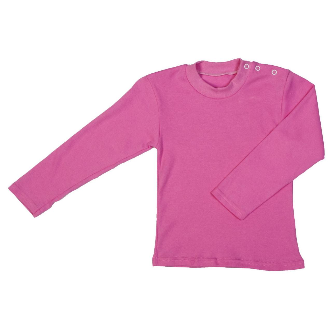 Футболка кнопка длинный рукав, реглан розовый