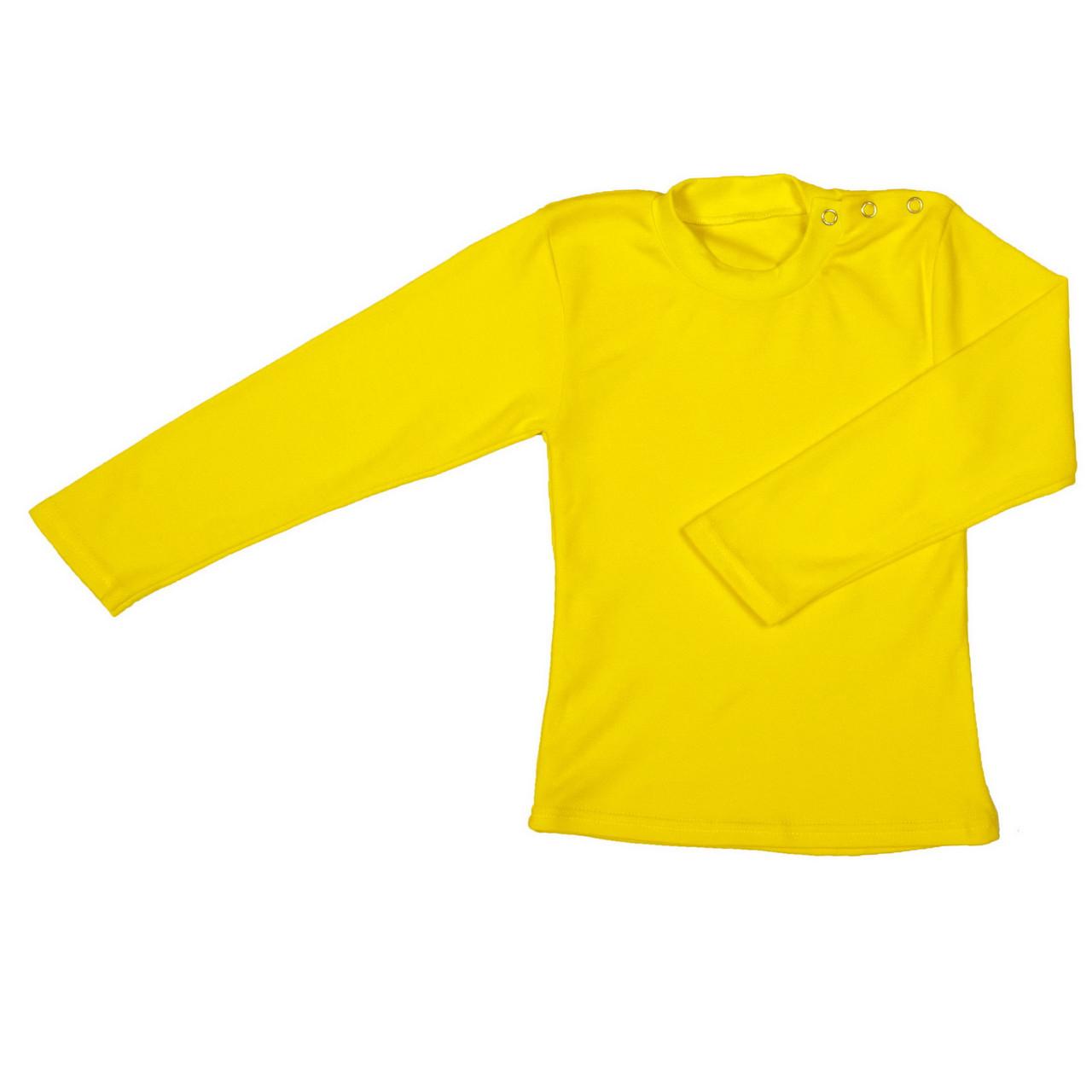 Футболка кнопка длинный рукав, реглан желтый