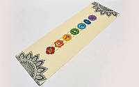 Коврик для йоги Льняной (Yoga mat) 2-х слойный 3мм FI-7157-1, фото 1