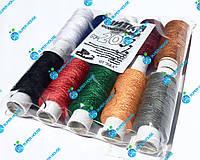 Швейная нитка №20 цветная. Полиэстер. Плотный намот 200м. 10 катушек в 1 уп., фото 1